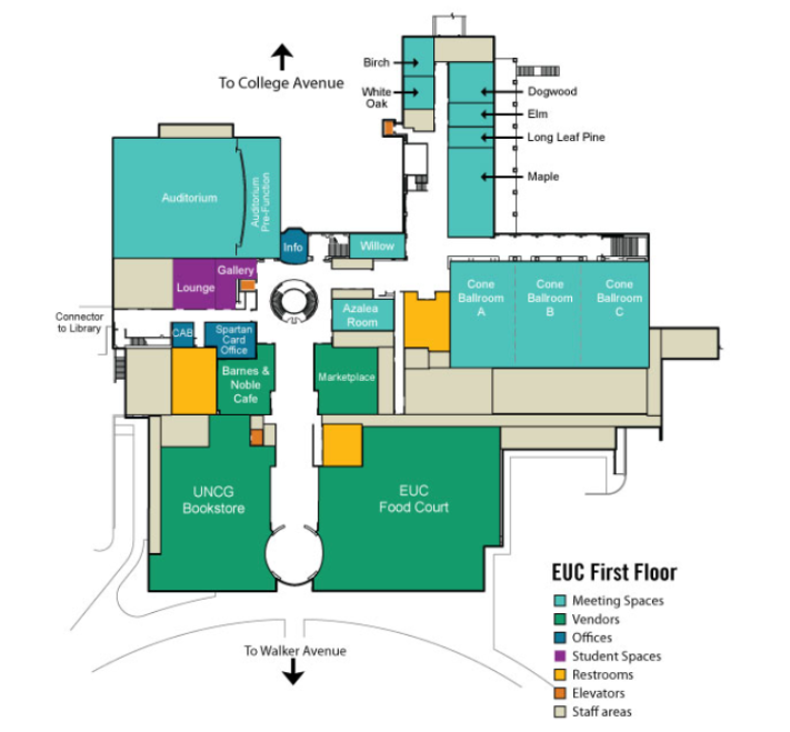 EUC Conference Rooms Map